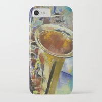 saxophone iPhone & iPod Cases featuring Saxophone by Michael Creese