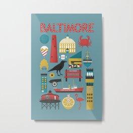 Celebrate Baltimore Metal Print