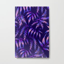 Brooklyn Forest - Purple Metal Print