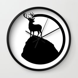 deer pose Wall Clock