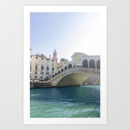 Rialto Bridge, Grand Canal Art Print