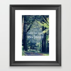 Take The Road Less Travelled Framed Art Print