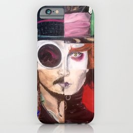 Four Faces of Johnny Depp iPhone Case