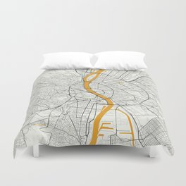 Budapest map Duvet Cover