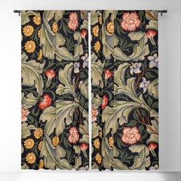William Morris Laurel Multi-Colored Floral Textile Pattern Sunflower, Aster, Dahlia Blackout Curtain