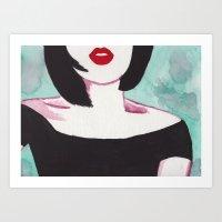 vogue Art Prints featuring Vogue by Amanda Manson