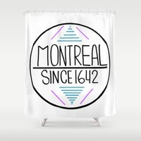 montreal Shower Curtains featuring Montreal by Aurelie