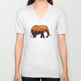 African Elephant Unisex V-Neck
