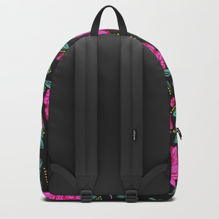Fuscia Floral Backpack