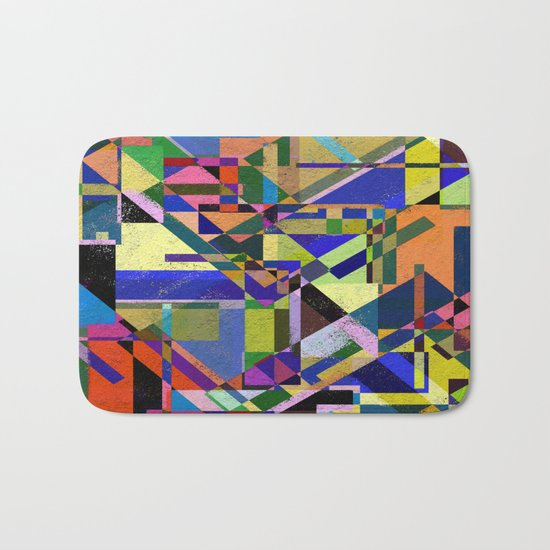 Geometric Wonder! Bath Mat