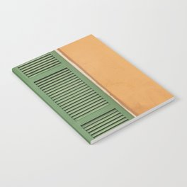 Green Shutters - Colorful Architecture in the New Orleans French Quarter Notebook