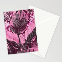 Alien Plant life pink Stationery Cards