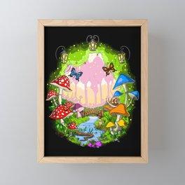 Magic Mushrooms Forest Framed Mini Art Print