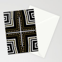 Black White + Gold Stationery Cards