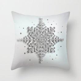 snow crystal Papercut Throw Pillow