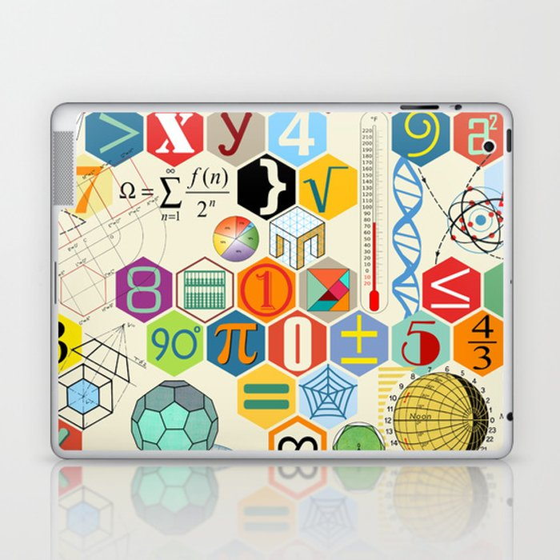 Math in color Laptop & iPad Skin