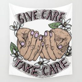 give care take care Wall Tapestry