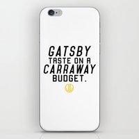 gatsby iPhone & iPod Skins featuring Gatsby Taste by of brimstone & fandom