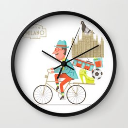 Saluti Da Milano Wall Clock