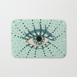Dots And Abstract Eye Bath Mat