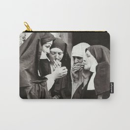 Nuns Smoking Carry-All Pouch