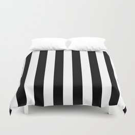 Parisian Black & White Stripes (vertical) Duvet Cover