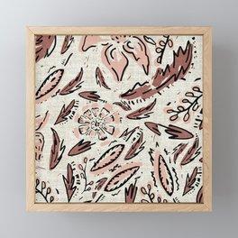 INDIE FLORAL Framed Mini Art Print
