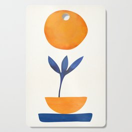 The Little One / Abstract Plant Painting Cutting Board