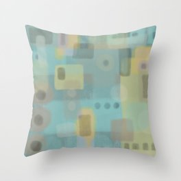 Some of this and that - Abstract Digital Art Throw Pillow