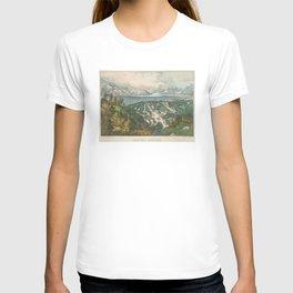 Vintage Pictorial Map of Salt Lake City UT (1870) T-shirt