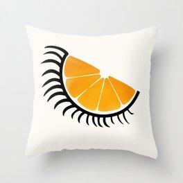 Clockwork Orangina Throw Pillow