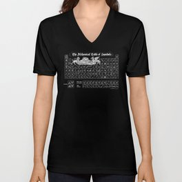 The Alchemical Table of Symbols Unisex V-Neck