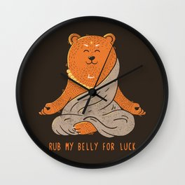 Buddha Bear Wall Clock