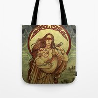 mother Tote Bags featuring Mother by Natasa Ilincic