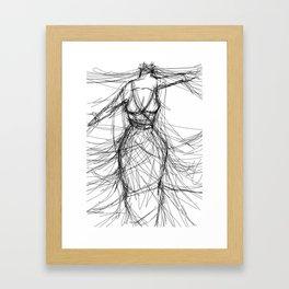 Strangled By Silk Thread Framed Art Print