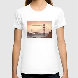 Golden Gate Bridge San Francisco With City Name T-shirt