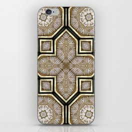 Victorian Art Deco Medieval Pattern gray SB18 iPhone Skin