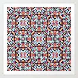 Flower mosaic Art Print