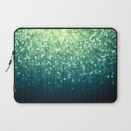 Spring Teal Green Sparkles Laptop Sleeve