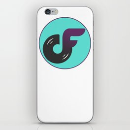 DJ Chandler F Logo (Black/Purple/Trim) iPhone Skin