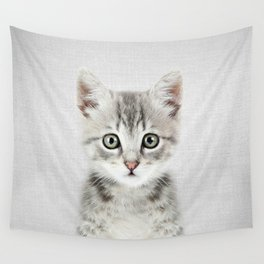 Kitten - Colorful Wall Tapestry