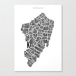 Staten Island, White Canvas Print