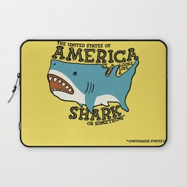 America…   it kinda looks like a shark or something Laptop Sleeve