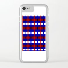 Red, White, and Blue Clear iPhone Case