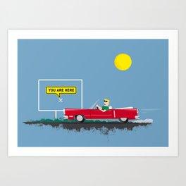Roadtrip to nowhere Art Print