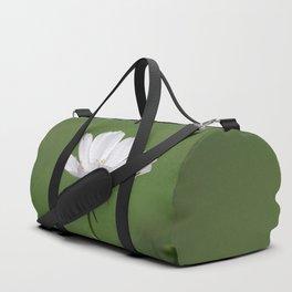 White Cosmo Daisy Duffle Bag