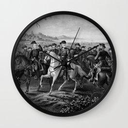 Robert E. Lee and His Generals Wall Clock