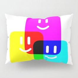 CMYK Full Cartridges   Emoji Version Pillow Sham
