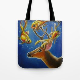 The Unlikely Encounter Tote Bag