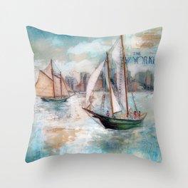 City Sailors Throw Pillow